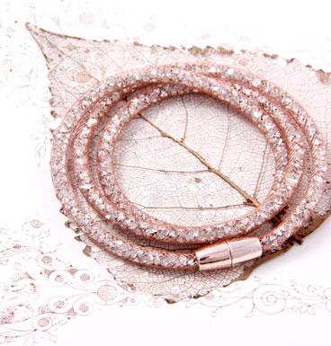 Bracelet Crystal Stocking, slim