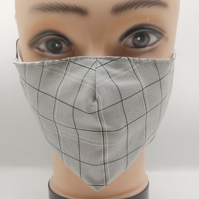 Masks with Checked Print