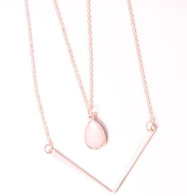 Double Necklace Droplet