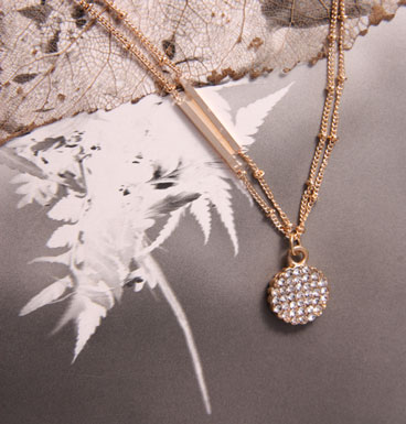 Necklace Strass Circle