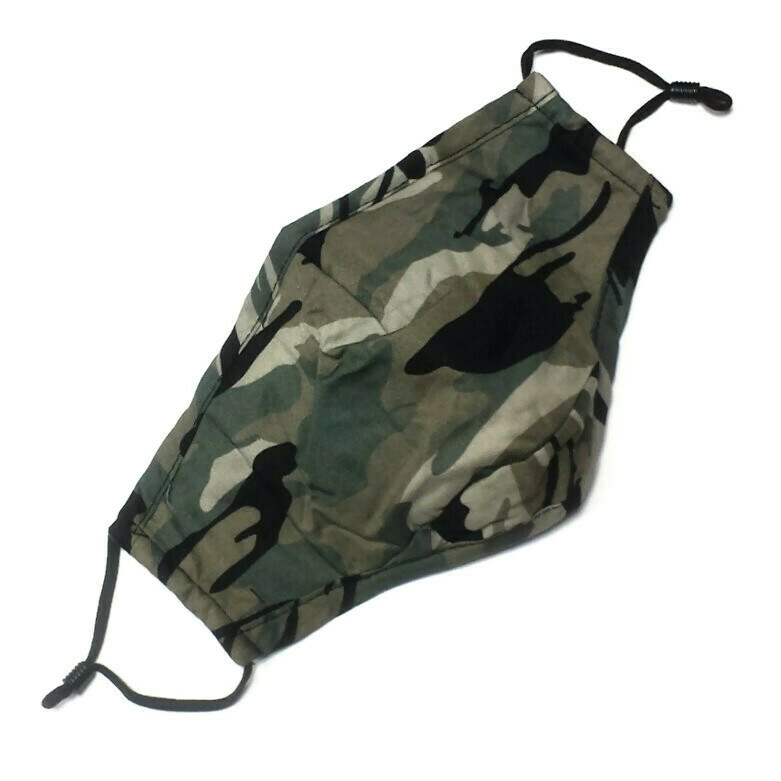 Masks with Camouflage Print
