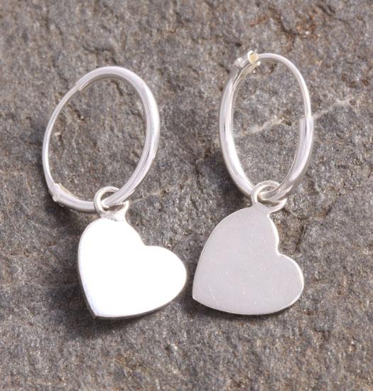Silver Luck Charm Earring Heart